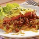 Bramborové lasagne s hovězím masem