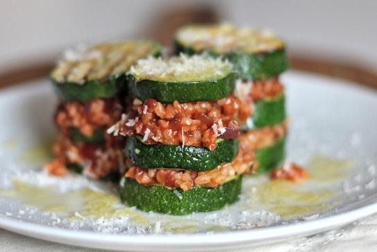 Cuketové lasagne s bulgurem