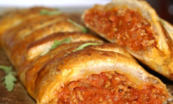 Falešné lasagne z listového těsta