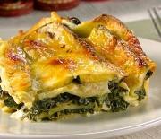 Lasagne se 3 druhy sýra a se špenátem