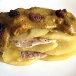 Lasagne s kuřecím masem a jablky