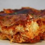 Vegetariánské lasagne s čočkovou náplní