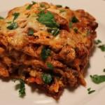 Lasagne s houbami
