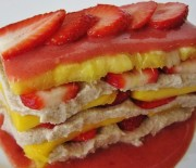 Ovocné tropical raw lasagne