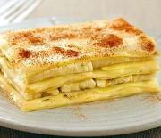 Banánové lasagne s kokosovým tvarohem