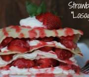 "Ovocné ""strawberry"" lasagne s jogurtem"