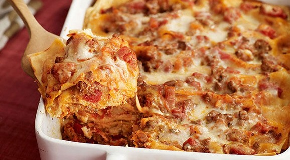 Lasagne se 4 druhy sýrů