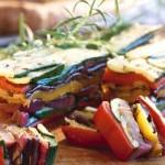 Nepečené lasagne z grilované zeleniny