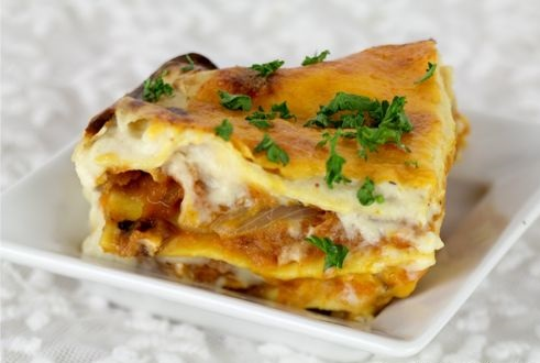 Vegetariánské lasagne s máslovou dýní