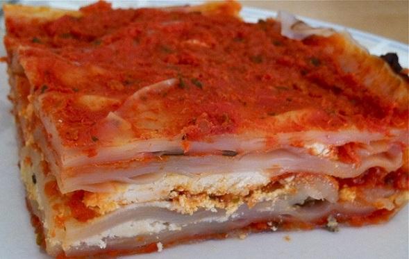 Lasagne z rýžového papíru