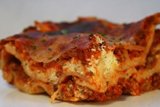 Lasagne s čočkovou náplní