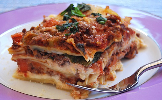 Lasagne s dvojitou náplní