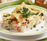 Lasagne s lososem a sýrovou omáčkou