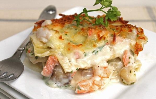 Lasagne s mořskými plody