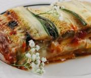 Zeleninové lasagne s cuketou, dýní, lilkem a celerem