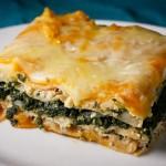 Špenátové vegetariánské lasagne se sýrem