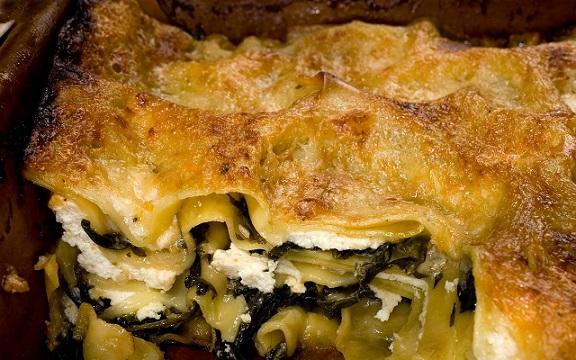 Zimní zelené lasagne